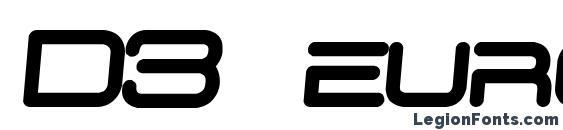 Шрифт D3 euronism bold italic