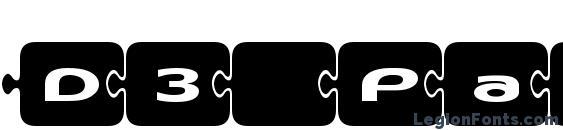 шрифт D3 PazzlismA, бесплатный шрифт D3 PazzlismA, предварительный просмотр шрифта D3 PazzlismA