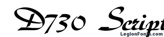 D730 Script Regular Font, Wedding Fonts
