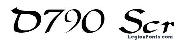 D790 Script Regular Font