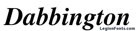 Dabbington bold italic 2 Font