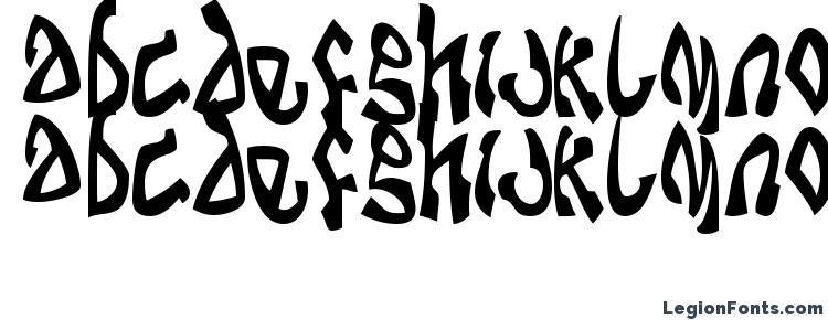 глифы шрифта Dabomb, символы шрифта Dabomb, символьная карта шрифта Dabomb, предварительный просмотр шрифта Dabomb, алфавит шрифта Dabomb, шрифт Dabomb