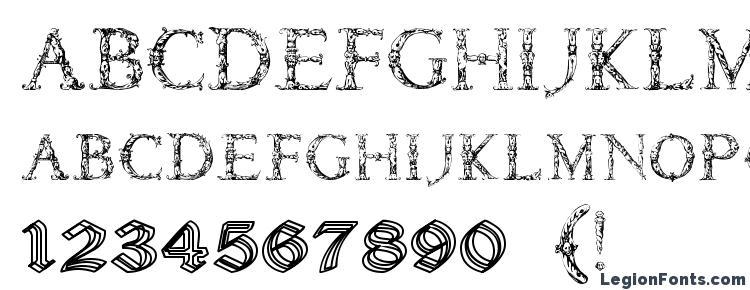 glyphs Daemones font, сharacters Daemones font, symbols Daemones font, character map Daemones font, preview Daemones font, abc Daemones font, Daemones font