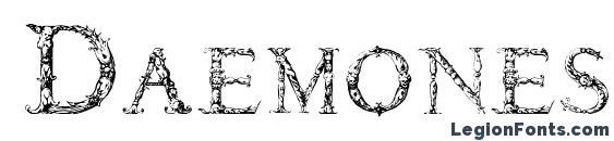 Шрифт Daemones