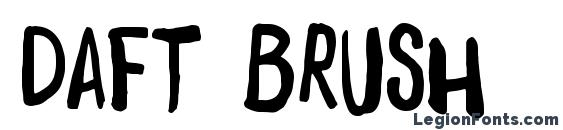 шрифт Daft Brush, бесплатный шрифт Daft Brush, предварительный просмотр шрифта Daft Brush
