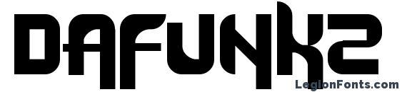 Шрифт Dafunk2