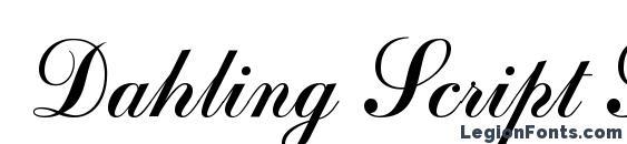 Dahling Script SSi Font, Cursive Fonts
