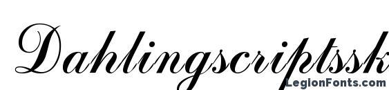 Dahlingscriptssk Font