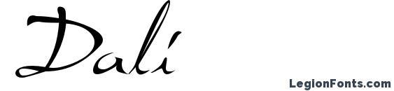 Dali font, free Dali font, preview Dali font