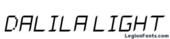 Dalila light oblique Font