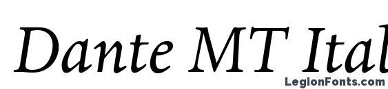 Dante MT Italic Font