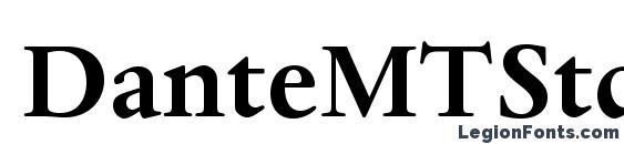 Шрифт DanteMTStd Bold