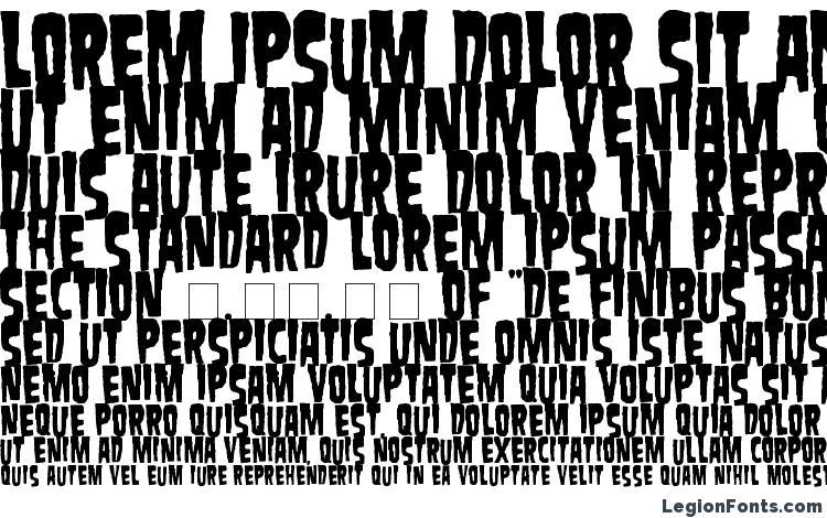 specimens Danzig font, sample Danzig font, an example of writing Danzig font, review Danzig font, preview Danzig font, Danzig font