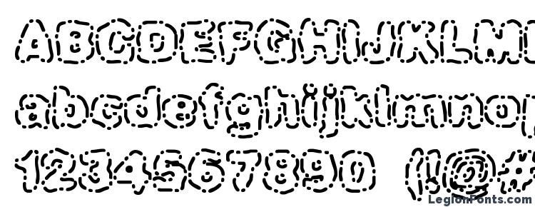 glyphs Dash Dot (BRK) font, сharacters Dash Dot (BRK) font, symbols Dash Dot (BRK) font, character map Dash Dot (BRK) font, preview Dash Dot (BRK) font, abc Dash Dot (BRK) font, Dash Dot (BRK) font