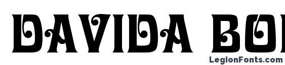 Davida Bold BT font, free Davida Bold BT font, preview Davida Bold BT font