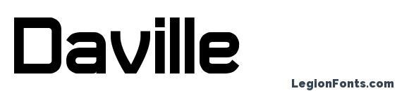 Шрифт Daville, Современные шрифты