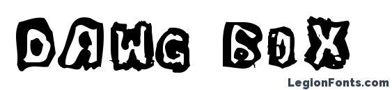 Dawg Box font, free Dawg Box font, preview Dawg Box font