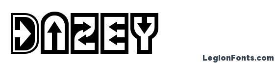 шрифт Dazey, бесплатный шрифт Dazey, предварительный просмотр шрифта Dazey