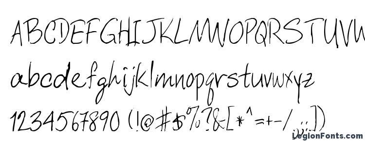 глифы шрифта DCWri Regular, символы шрифта DCWri Regular, символьная карта шрифта DCWri Regular, предварительный просмотр шрифта DCWri Regular, алфавит шрифта DCWri Regular, шрифт DCWri Regular