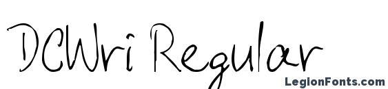шрифт DCWri Regular, бесплатный шрифт DCWri Regular, предварительный просмотр шрифта DCWri Regular