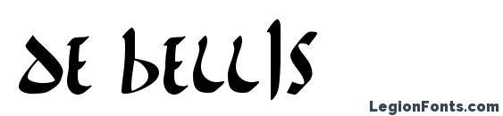 Шрифт De Bellis