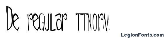 De regular ttnorm Font