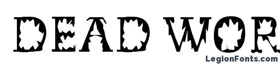 Шрифт Dead World