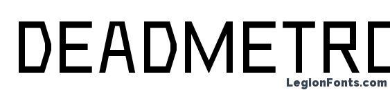 Deadmetroc Font