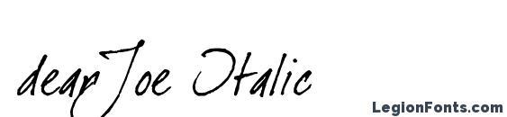 Шрифт dearJoe Italic