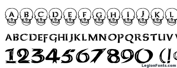 glyphs Deathhead KeltCaps font, сharacters Deathhead KeltCaps font, symbols Deathhead KeltCaps font, character map Deathhead KeltCaps font, preview Deathhead KeltCaps font, abc Deathhead KeltCaps font, Deathhead KeltCaps font