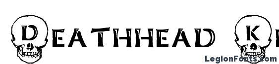 Шрифт Deathhead KeltCaps