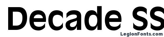 Decade SSi Bold font, free Decade SSi Bold font, preview Decade SSi Bold font