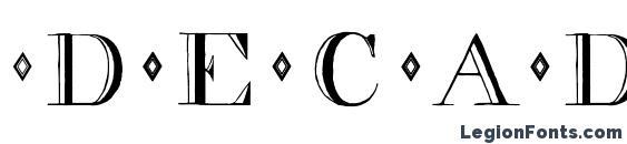 decadence Font, 3D Fonts