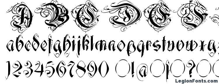 глифы шрифта Decadentia, символы шрифта Decadentia, символьная карта шрифта Decadentia, предварительный просмотр шрифта Decadentia, алфавит шрифта Decadentia, шрифт Decadentia