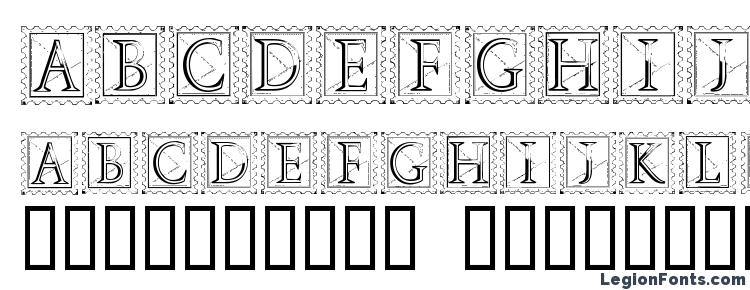 glyphs Deco Stamp font, сharacters Deco Stamp font, symbols Deco Stamp font, character map Deco Stamp font, preview Deco Stamp font, abc Deco Stamp font, Deco Stamp font