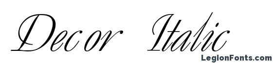 Decor Italic Font, Wedding Fonts