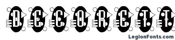 Шрифт Decorette