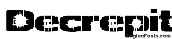 Decrepit (BRK) Font