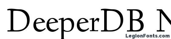 DeeperDB Normal font, free DeeperDB Normal font, preview DeeperDB Normal font