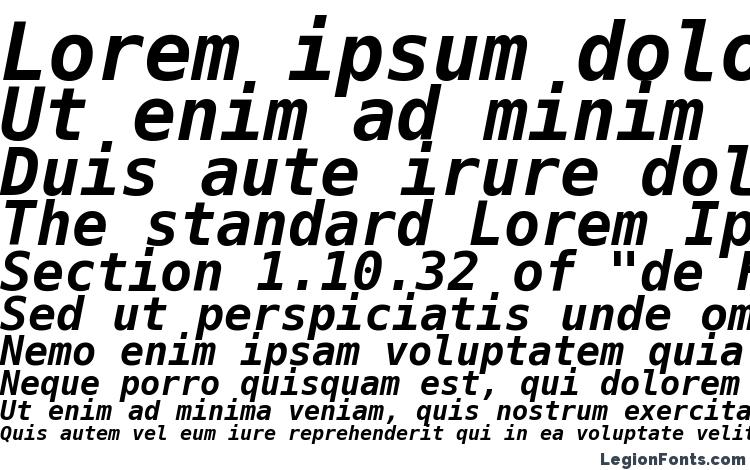 specimens DejaVu Sans Mono Bold Oblique font, sample DejaVu Sans Mono Bold Oblique font, an example of writing DejaVu Sans Mono Bold Oblique font, review DejaVu Sans Mono Bold Oblique font, preview DejaVu Sans Mono Bold Oblique font, DejaVu Sans Mono Bold Oblique font