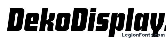 DekoDisplaySerial BoldItalic Font