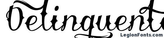 Delinquente Demo font, free Delinquente Demo font, preview Delinquente Demo font