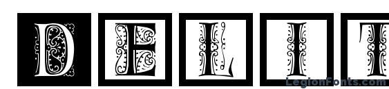 шрифт DelitzschCaps, бесплатный шрифт DelitzschCaps, предварительный просмотр шрифта DelitzschCaps