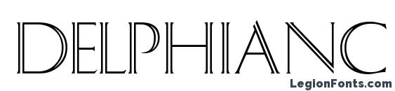 шрифт DelphianC, бесплатный шрифт DelphianC, предварительный просмотр шрифта DelphianC
