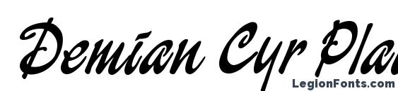 Demian Cyr Plain1.0 Font