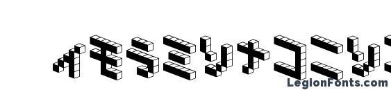 Demoncubicblock nkp black Font