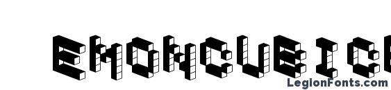 шрифт Demoncubicblockfont dark, бесплатный шрифт Demoncubicblockfont dark, предварительный просмотр шрифта Demoncubicblockfont dark