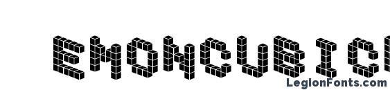 Demoncubicblockfont tile Font