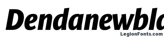 Шрифт Dendanewblackcondc italic