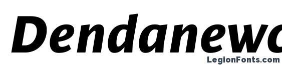 Dendanewc bolditalic Font